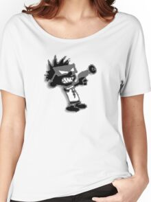 Spaceman Spiff - Black and Grey Women's Relaxed Fit T-Shirt