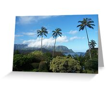 Palms at Hanalei Greeting Card