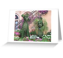 Topiary Lady and the Tramp Greeting Card