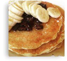 Banana & Chocolate Chip Pancakes Canvas Print