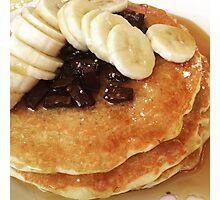 Banana & Chocolate Chip Pancakes Photographic Print