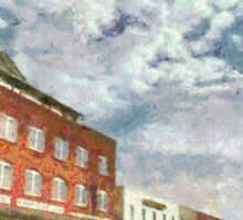 Parting Clouds Over Franklin, NC Sticker