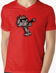 Spaceman Spiff - Greyscale Mens V-Neck T-Shirt