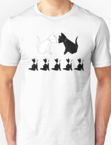Origami Cats (Slate Blue) T-Shirt
