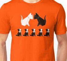 Origami Cats (Red) Unisex T-Shirt