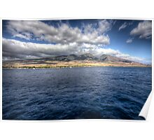 Maui HDR from a boat Poster