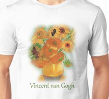Vase with Twelve Sunflowers, Vincent van Gogh Unisex T-Shirt
