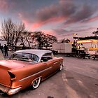 Old Chevy Belair outside car show by calgecko