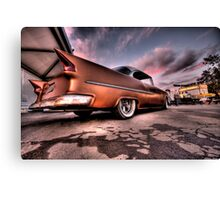 Old Chevy Belair outside car show HDR Canvas Print