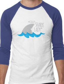 Crazy Shark lady Men's Baseball ¾ T-Shirt