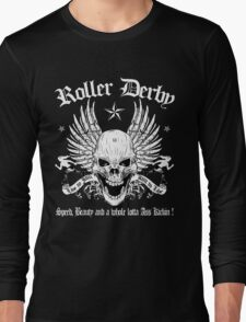 ROLLER DERBY SKULL Long Sleeve T-Shirt