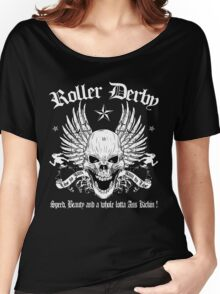 ROLLER DERBY SKULL Women's Relaxed Fit T-Shirt