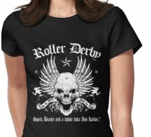 ROLLER DERBY SKULL Womens Fitted T-Shirt