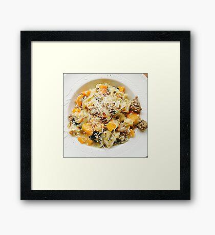 Butternut Squash & Sausage Pasta Framed Print