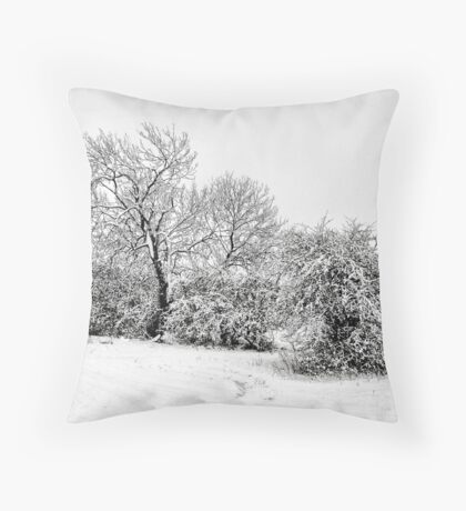 A pencil sketch from the snow gods Throw Pillow