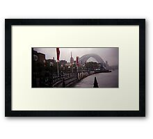 Sydney fog Framed Print