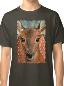 Deer Fawn Wildlife Water-colour Design Classic T-Shirt