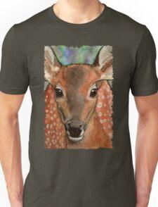 Deer Fawn Wildlife Water-colour Design Unisex T-Shirt