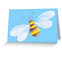 Cute honey bee whimsical watercolor art Greeting Card