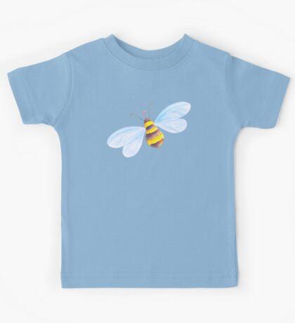 Cute honey bee whimsical watercolor art Kids Tee