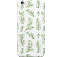 Watercolor pine branches pattern iPhone Case/Skin