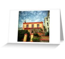 Orange holga house Greeting Card