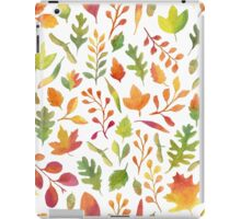 Watercolor autumn leaves pattern iPad Case/Skin