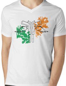Sainty guns Mens V-Neck T-Shirt