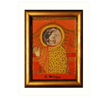 Saint Meringue Patron of Apparitions that Appear in Foodstuff Art Print