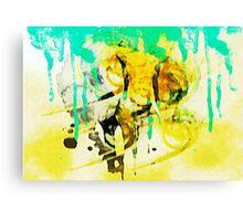 Elephant Ink Canvas Print