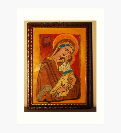 St Charlene & baby Troy, Patron of Family Tax Benefit (Part A) Art Print