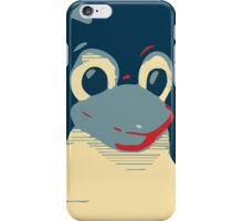 Linux Tux penguin poster head red blue  iPhone Case/Skin