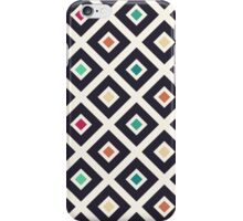 Modern Trendy Geometric Patter in Fresh Vintage Coffee Style Colors iPhone Case/Skin