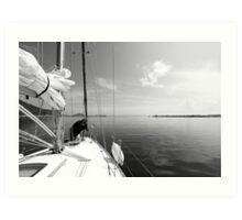 Getting Ready to Sail Art Print