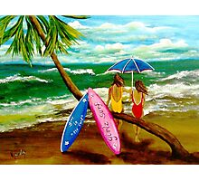 Girlz Surf Photographic Print
