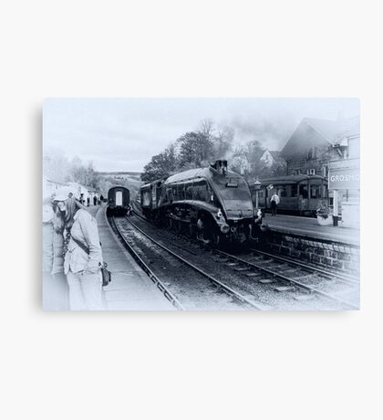 A4 Steam Train - Grosmont Canvas Print