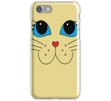 Putty-cat Face #2 iPhone Case/Skin