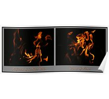 Fire Diptych Poster