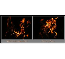 Fire Diptych Photographic Print