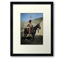 Hussar from the Crimean War - Colourised photo Framed Print