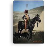 Hussar from the Crimean War - Colourised photo Canvas Print