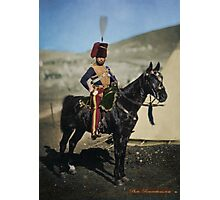 Hussar from the Crimean War - Colourised photo Photographic Print