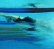Underwater Swim Start by Duane Hart
