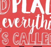 College Quote Sticker