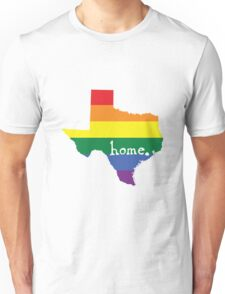 Texas gay pride vector state sign Unisex T-Shirt