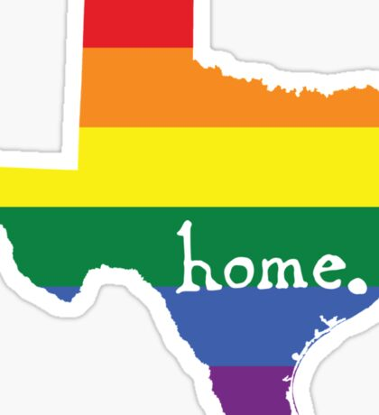 Texas gay pride vector state sign Sticker