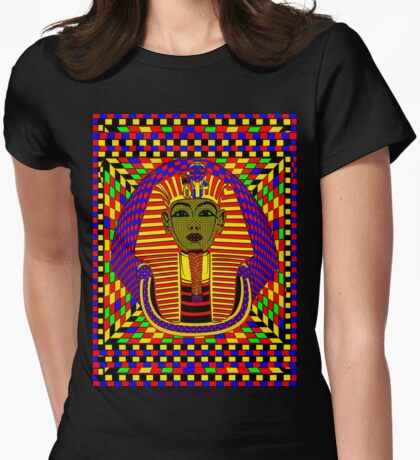 The King of Tut Pop Art Womens Fitted T-Shirt