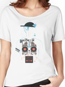Breathe Music In. Women's Relaxed Fit T-Shirt