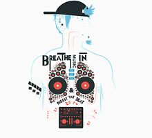Breathe Music In. Unisex T-Shirt