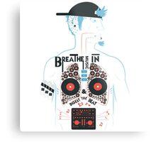 Breathe Music In. Metal Print